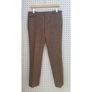 Ralph Lauren 100% wool tweed straight leg pants